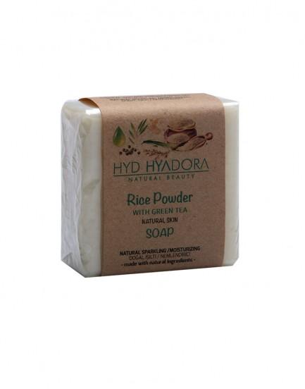 Yeşil Çaylı Doğal Pirinç Tozu Sabunu